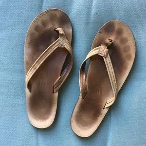 Tan rainbow sandals